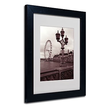 Trademark Fine Art Kathy Yates 'London Eye 2' Matted Art Black Frame 16x20 Inches