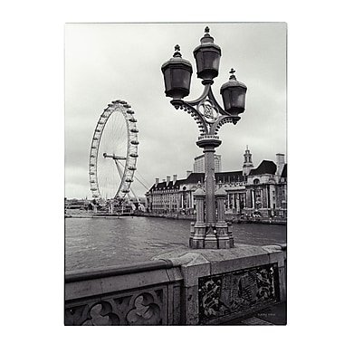 Trademark Fine Art Kathy Yates 'London Eye' Canvas Art 30x47 Inches