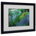 Kathy Yates 'Monet's Lily Pond' Matted Framed Art - 11x14 Inches - Wood Frame