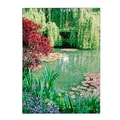 Trademark Fine Art Kathy Yates 'Monet's Lily Pond 2' Canvas Art 14x19 Inches