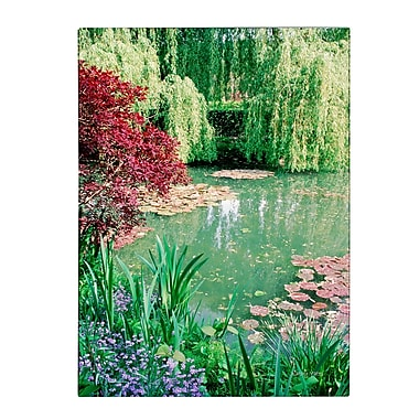 Trademark Fine Art Kathy Yates 'Monet's Lily Pond 2' Canvas Art 22x32 Inches