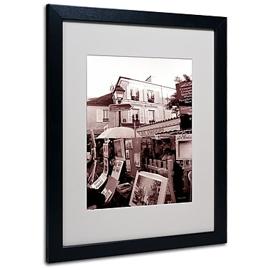 Kathy Yates 'Montmartre 2' Matted Framed Art - 11x14 Inches - Wood Frame