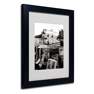 Trademark Fine Art Kathy Yates 'Montmartre' Matted Art Black Frame 16x20 Inches