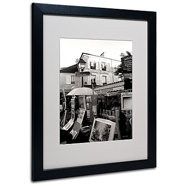 Kathy Yates 'Montmartre' Matted Framed Art - 11x14 Inches - Wood Frame