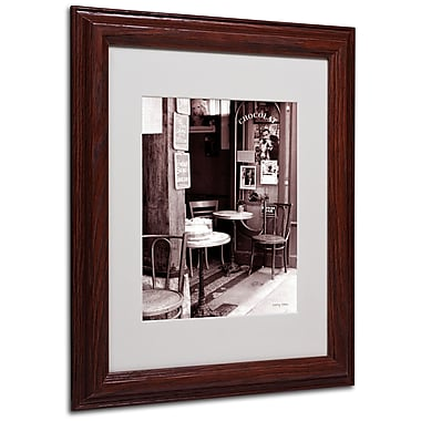 Kathy Yates 'Paris Cafe' Matted Framed Art - 16x20 Inches - Wood Frame