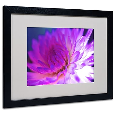 Kathy Yates 'Mod Dahlia' Matted Framed Art - 11x14 Inches - Wood Frame