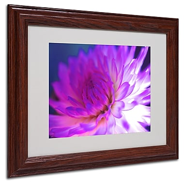 Kathy Yates 'Mod Dahlia' Matted Framed Art - 16x20 Inches - Wood Frame