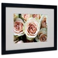 Kathy Yates 'Pale Pink Roses' Matted Framed Art - 11x14 Inches - Wood Frame