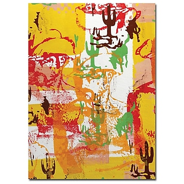 Trademark Fine Art Lazaro Amaral 'Abstract' Canvas Art Ready to Hang 14x19 Inches