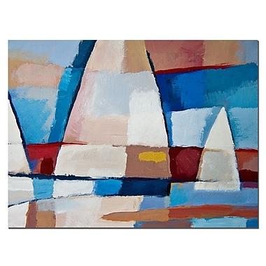 Trademark Fine Art Adam Kadmos 'Sails' Canvas Art Ready to Hang 18x24 Inches