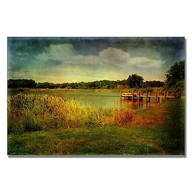 Trademark Fine Art Lois Bryan 'Gone Fishin' Canvas Art 30x47 Inches