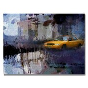 Trademark Fine Art Adam Kadmos 'Yellow Cab' Canvas Art 26x32 Inches