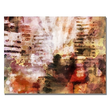 Trademark Fine Art Adam Kadmos 'City Impression' Canvas Art 24x32 Inches