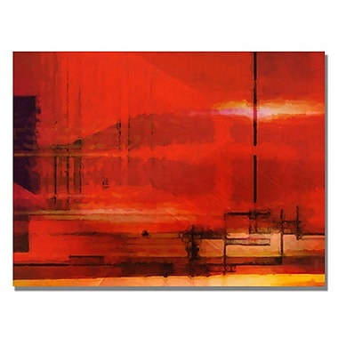 Trademark Fine Art Adam Kadmos 'Red Sky' Canvas Art 24x32 Inches