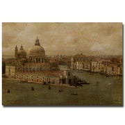 Trademark  Fine  Art Lois Bryan 'Vintage Venice' Canvas Art 35x47 Inches