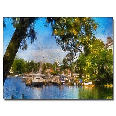 Trademark Fine Art Lois Bryan 'Spa Creek' Canvas Art 16x24 Inches