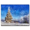 Trademark Fine Art Lois Bryan 'Wintry Day' Canvas Art