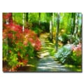 Trademark Fine Art Lois Bryan 'Azaleas in the Morning' Canvas Art