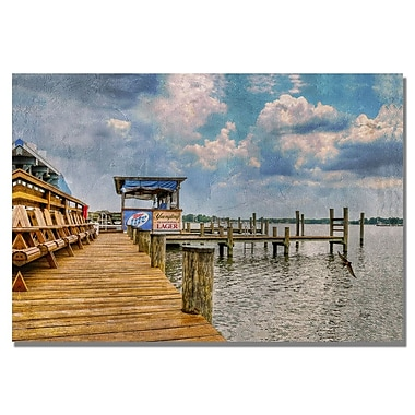 Trademark Fine Art Lois Bryan 'On the Dock II' Canvas Art 22x32 Inches