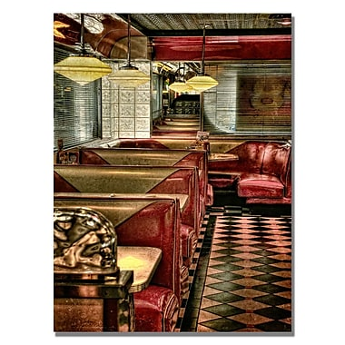 Trademark Fine Art Lois Bryan 'The Diner' Canvas Art 22x32 Inches