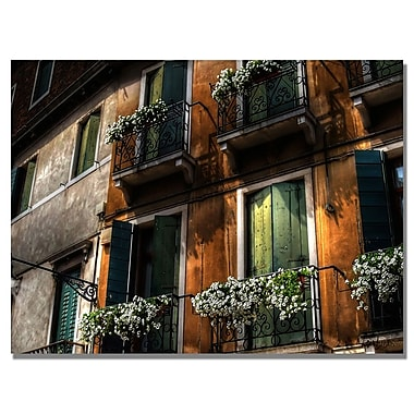 Trademark Fine Art Lois Bryan 'Balcony' Canvas Art 18x24 Inches
