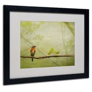 Lois Bryan 'Bluebird in Spring' Framed Matted Art - 11x14 Inches - Wood Frame