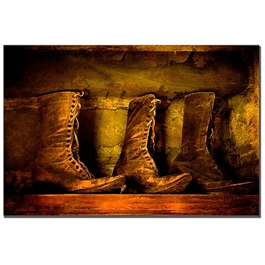 Trademark Fine Art Lois Bryan 'Old Fashioned Boots' Canvas Art