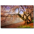 Trademark Fine Art Lois Bryan 'At the Cherry Blossom Festival' Canvas Art 22x32 Inches