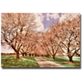 Trademark Fine Art Lois Bryan 'Down the Cherry Lined Lane' Canvas Art