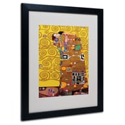 Gustav Klimt 'Fulfillment' Framed Matted Art - 11x14 Inches - Wood Frame