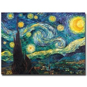 Trademark Fine Art Vincent van Gogh 'Starry Night' Canvas Art 35x47 Inches