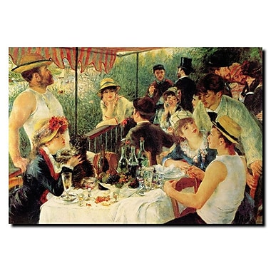 Trademark Fine Art Pierre Renoir, 'Luncheon of the Boating Party' Canvas Art 14x19 Inches