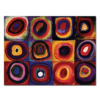 Trademark Fine Art Wassily Kandinsky 'Karbstudie Quadrate' Canvas Art