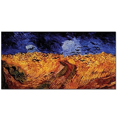 Trademark Fine Art Vincent van Gogh 'Wheatfield with Crows' Canvas Art 10x19 Inches
