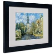 Trademark Fine Art Claude Monet 'The Zuiderkerk at Amsterdam' Framed Matted Art