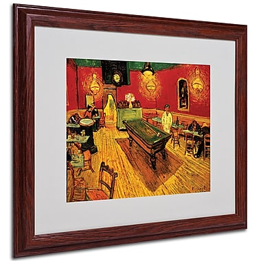 Vincent van Gogh 'Night Cafe' Framed Matted Art - 16x20 Inches - Wood Frame