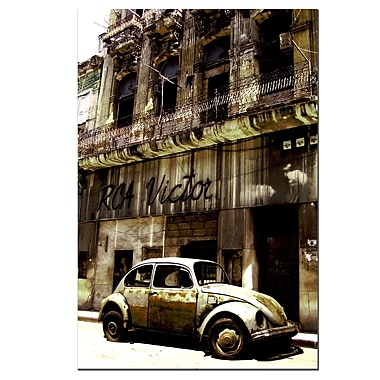 Trademark Fine Art 1956 VolkswagenBeetle Sedan-Gallery Wrapped 16x24 Inches