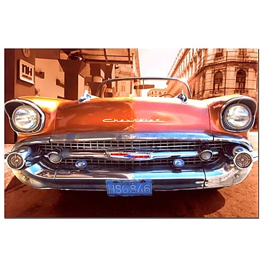 Trademark Fine Art 1957 Chevy-Gallery Wrapped 16x24 Inches
