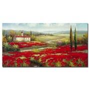Trademark Fine Art Rio 'Field of Poppies' Canvas Art