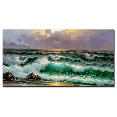 Trademark Fine Art Rio 'Waves III' Canvas Art 16x32 Inches