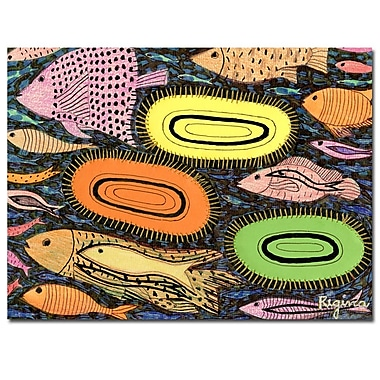 Trademark Fine Art Regina 'Peces Vivos' Canvas Art 35x47 Inches