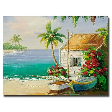 Trademark Fine Art Rio 'Key West Breeze' Canvas Art 26x32 Inches