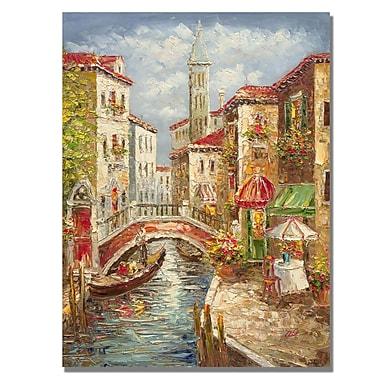 Trademark Fine Art Rio 'Venice' Canvas Art 35x47 Inches