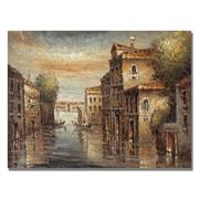 Trademark Fine Art Rio 'Auburn Venice' Canvas Art 35x47 Inches