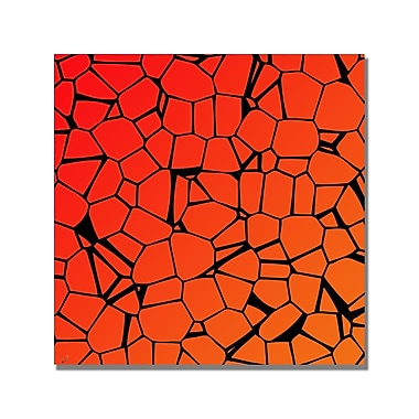 Trademark Fine Art 'Crystals of Reds and Orange' Canvas Art 18x18 Inches