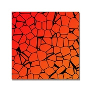 Trademark Fine Art 'Crystals of Reds and Orange' Canvas Art 24x24 Inches