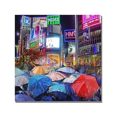 Trademark Fine Art 'Rainy Night in Tokyo' Canvas Art 24x24 Inches
