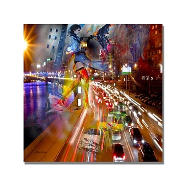Trademark Fine Art 'Traffic' Canvas Art 18x18 Inches