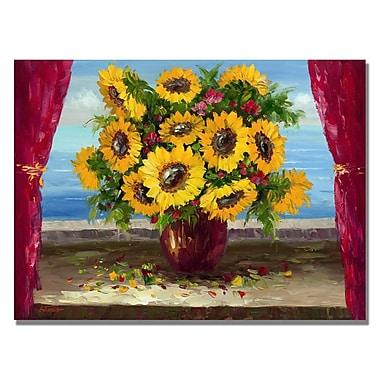 Trademark Fine Art 'Field of Wild Floweres' Canvas Art