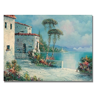Trademark Fine Art Rio 'Ballagio' Canvas Art 35x47 Inches